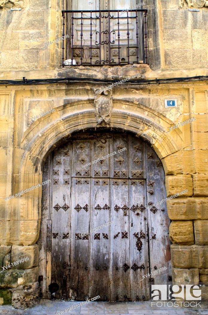 Stock Photo: Salazar Palace facade  Haro, La Rioja, Spain.