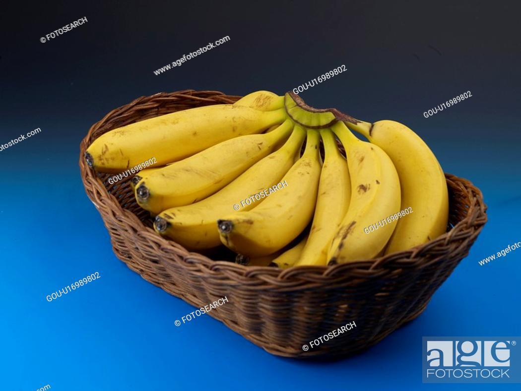 Stock Photo: plant, banana, fruit, plants, basket.