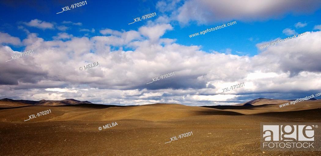 Stock Photo: Moorudalur desert  Central Iceland.