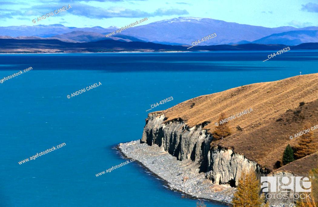 Stock Photo: Pukaki Glacier lake. South island. New Zealand.