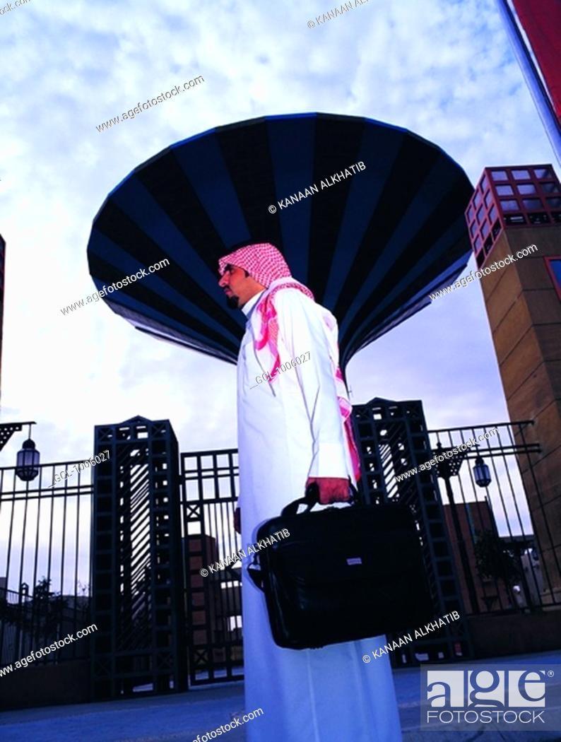 Stock Photo: Arab Businessman in Riyadh, Saudi Arabia.
