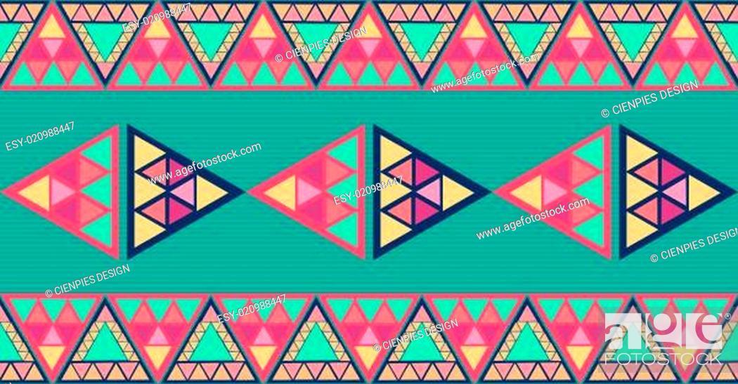 Stock Photo: Unusual geometric seamless pattern.