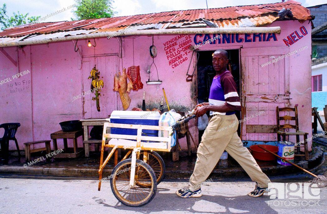 Stock Photo: Dominican republic, Cabarete, shops.