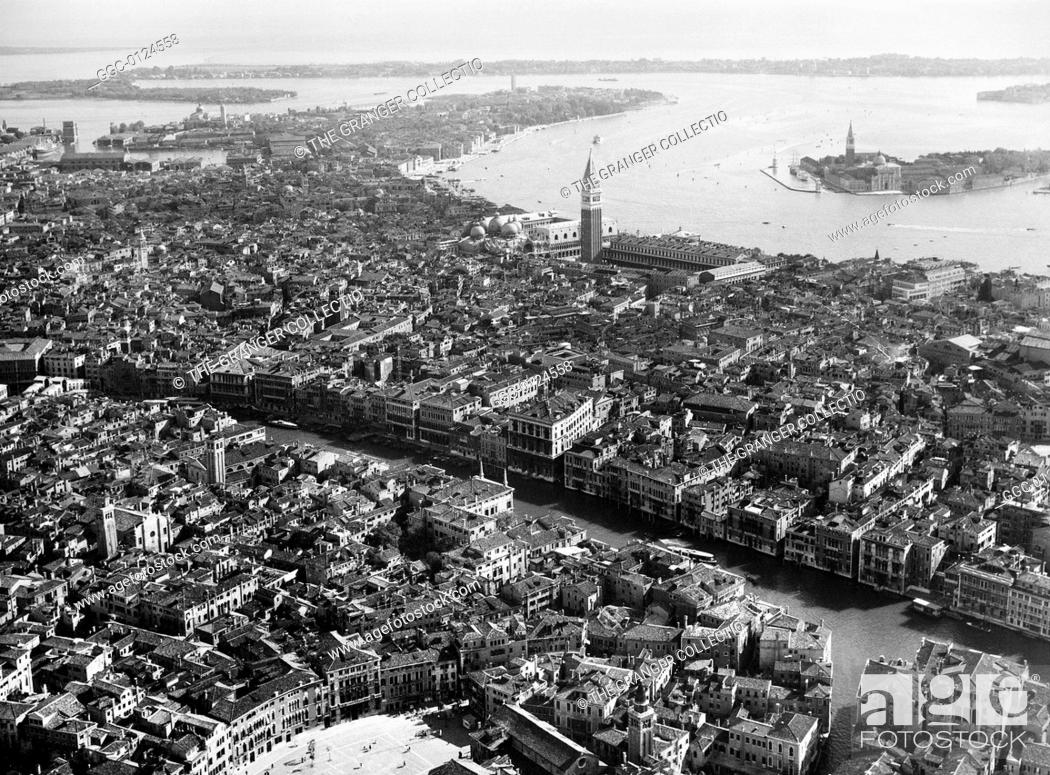 Stock Photo: VENICE: GRAND CANAL.View of the Grand Canal in Venice, Italy. Photograph, 20th century.