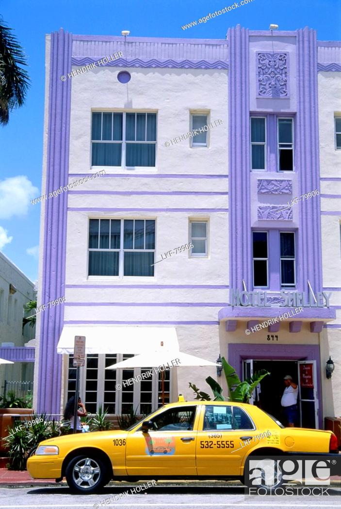 Stock Photo Hotel Shelly Collins Avenue South Beach Miami Florida Usa