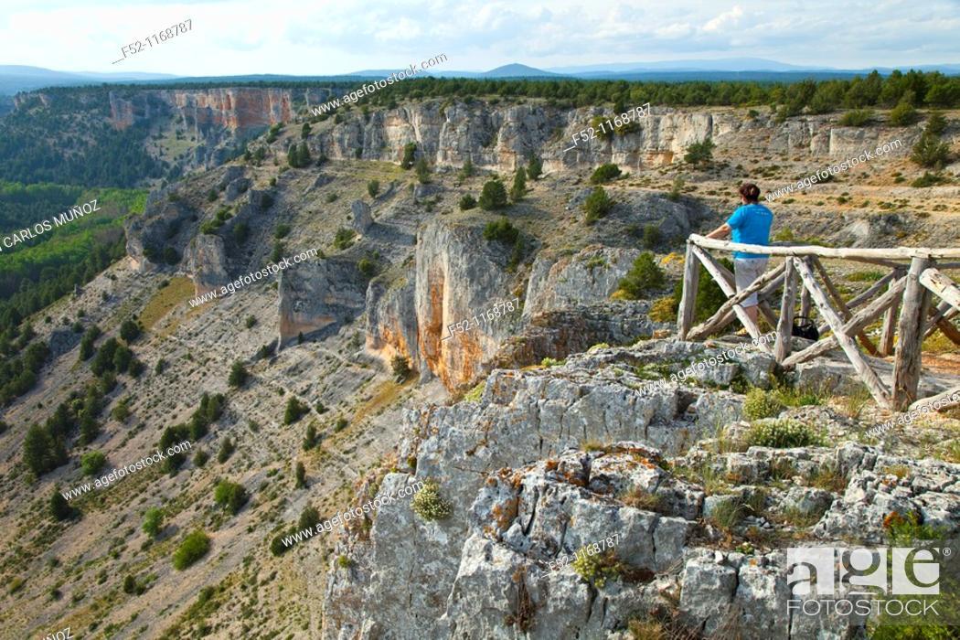 Stock Photo: La Galiana viewpoint, Cañón del Río Lobos Natural Park, Soria province, Castilla-Leon, Spain.