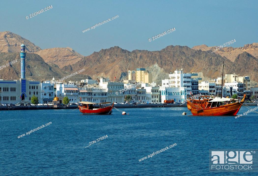 Stock Photo: Blick auf den Stadtteil Muttrah, Muscat, Sultanat Oman / View of the Muttrah district of Muscat, Oman, Middle East.