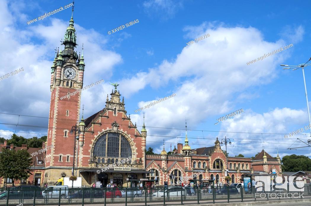 Stock Photo: Railway station, Glowny Gdansk, Gdansk, Poland.