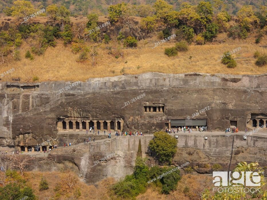 Imagen: The famous Ajanta archeological site in Maharastra, India.