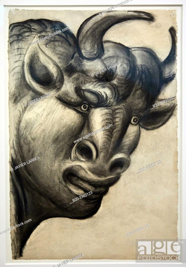 "Stock Photo: ""Minotaure"", 1933, Pablo Picasso, Picasso Museum, Paris, France, Europe."