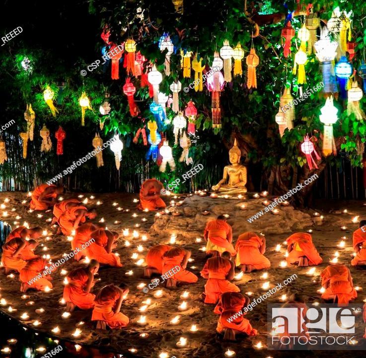 Chiang Mai Thailand November 17 Loy Krathong Festival In