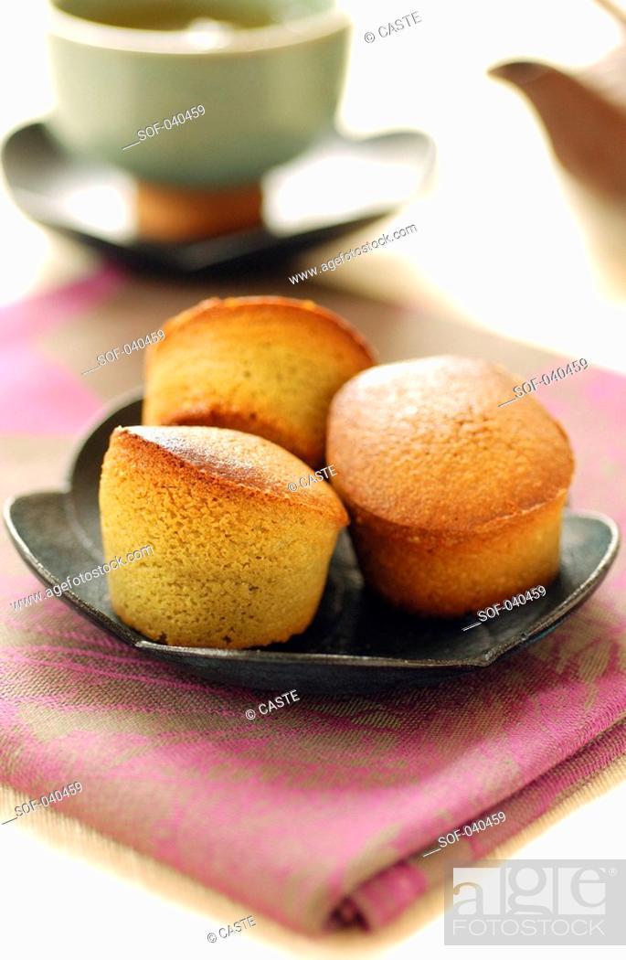 Stock Photo: Matcha tea buns.