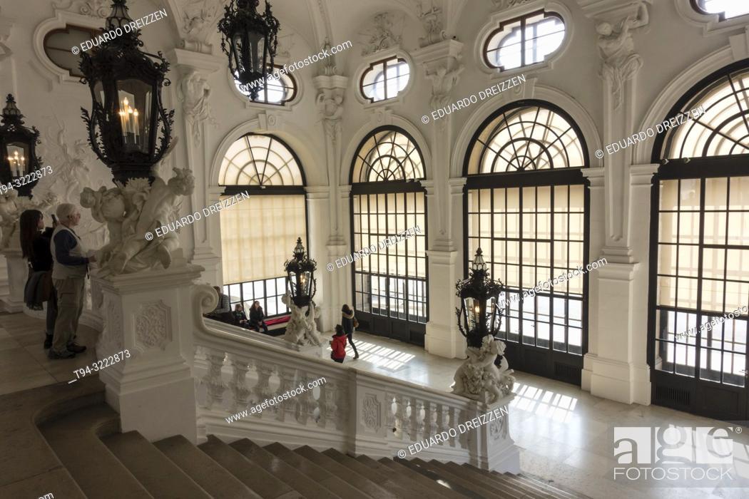 Stock Photo: Upper Belvedere Palace interior, Vienna.