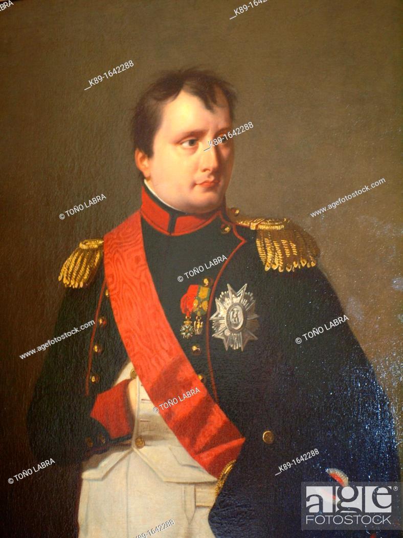 Stock Photo: Napoleón Bonaparte portrait. Museo Napoleónico. Havana. Cuba.