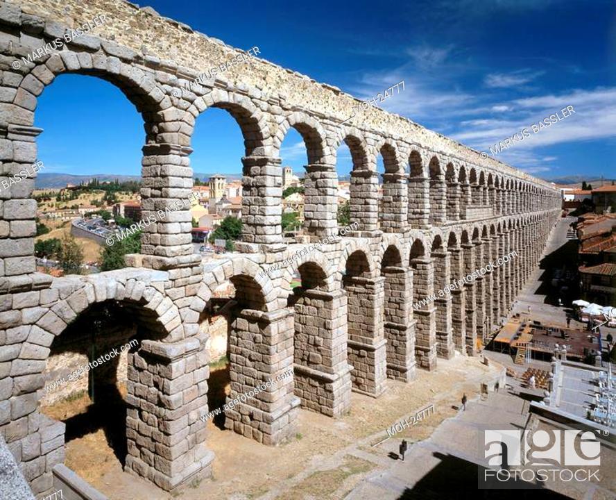 Imagen: Segovia/Aquädukt, erbaut unter Trajan 98-117.