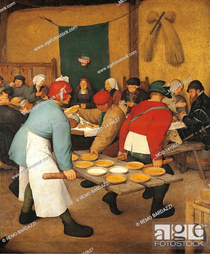 Stock Photo The Peasant Wedding By Pieter Bruegel Elder 1567 1568