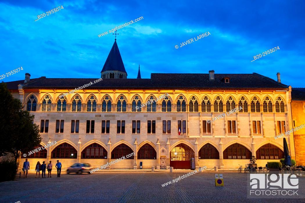 Photo de stock: Cluny Abbey, Cluny, Saone-et-Loire Department, Burgundy Region, Maconnais Area, France, Europe.