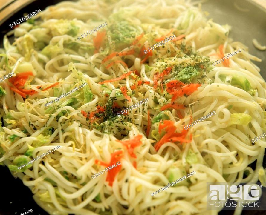 Stock Photo: Chow mein.