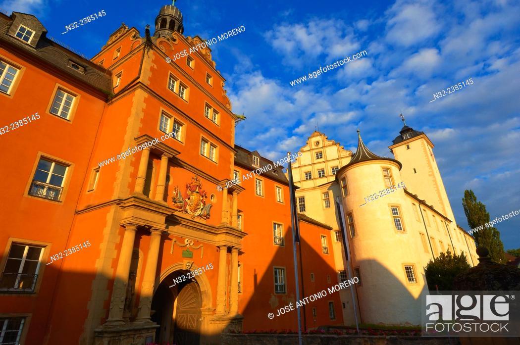 Stock Photo: Bad Mergentheim, Deutschordenschloss, castle of the Teutonic Knights, Romantic Road, Romantische Strasse, Baden-Wuerttemberg; Germany; Europe.