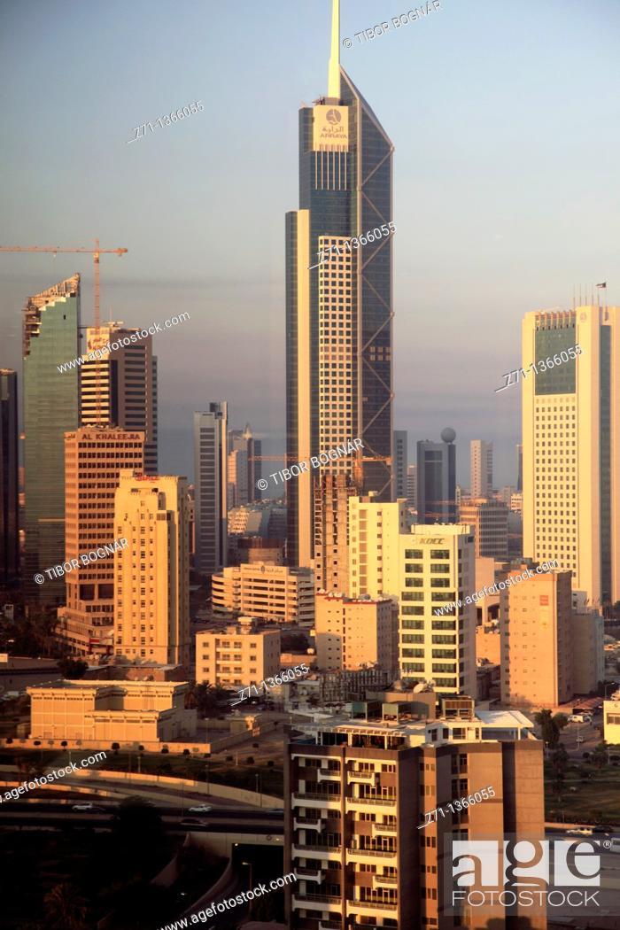 Stock Photo: Kuwait, Kuwait City, skyline, general view,.
