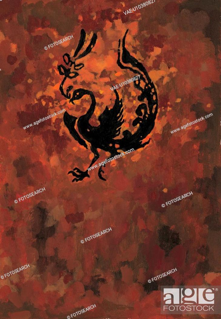 Stock Photo: birds, bird, vertebrate, sky, tradition, phoenix, animal.