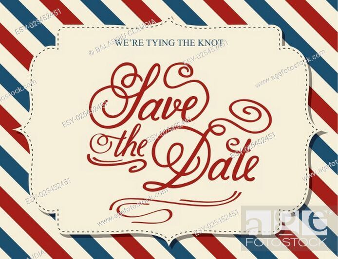 Stock Vector: Save the Date, illustrator format eps10.