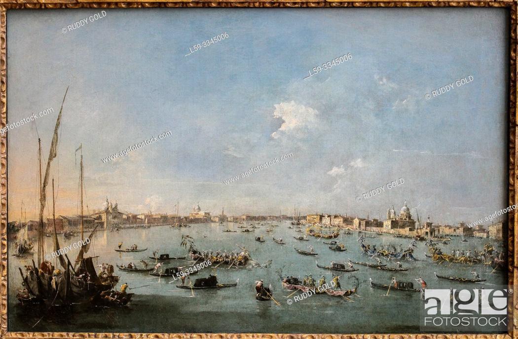 Imagen: 'Regatta on the Canale della Giudecca', 1784/89, Francesco Guardi (1712-1793).
