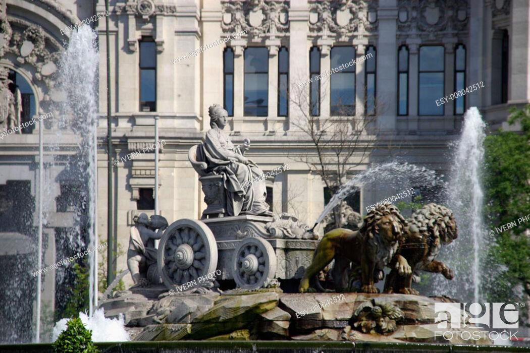 La Cibeles Statue And Palacio De Comunicaciones In