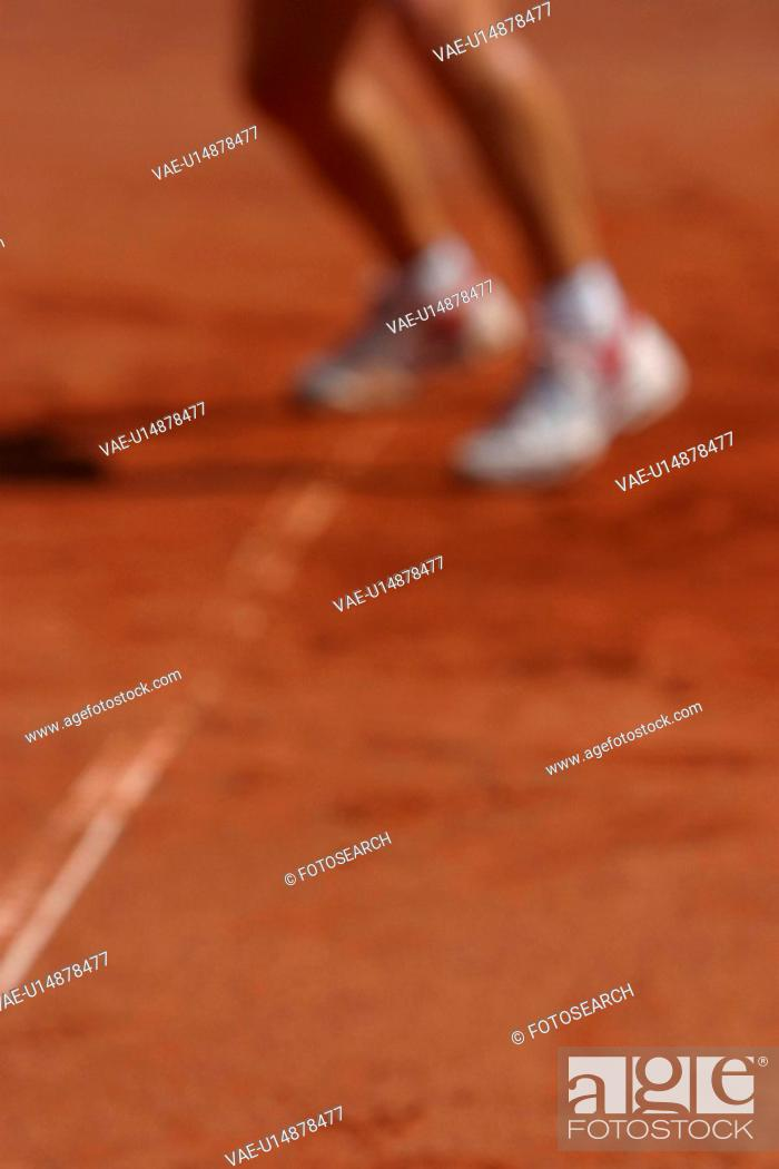 Stock Photo: person, outfit, attire, sporty, sports, tennis.