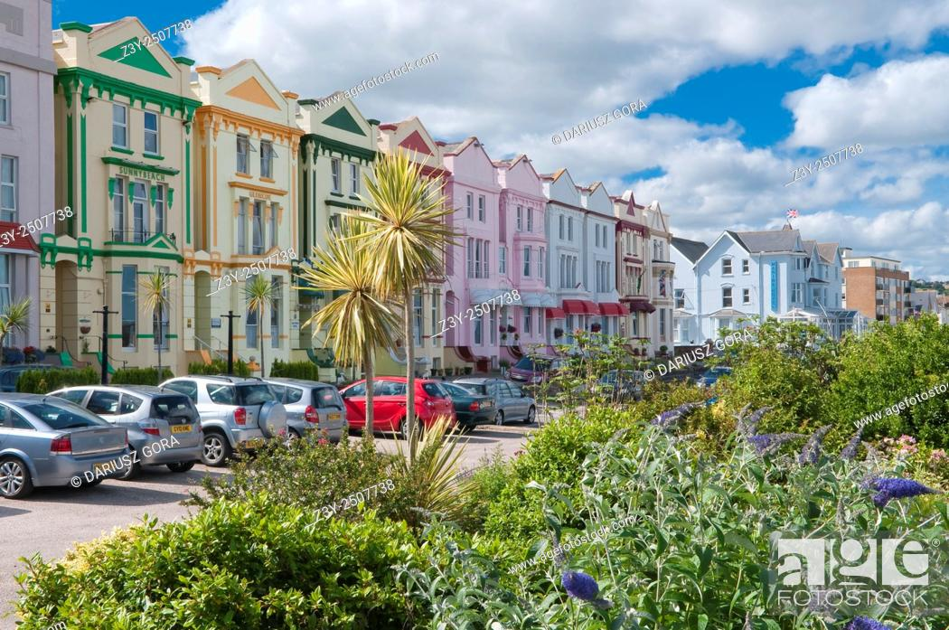Stock Photo Waterfront Hotels In Esplanade Road Paignton Devon Uk