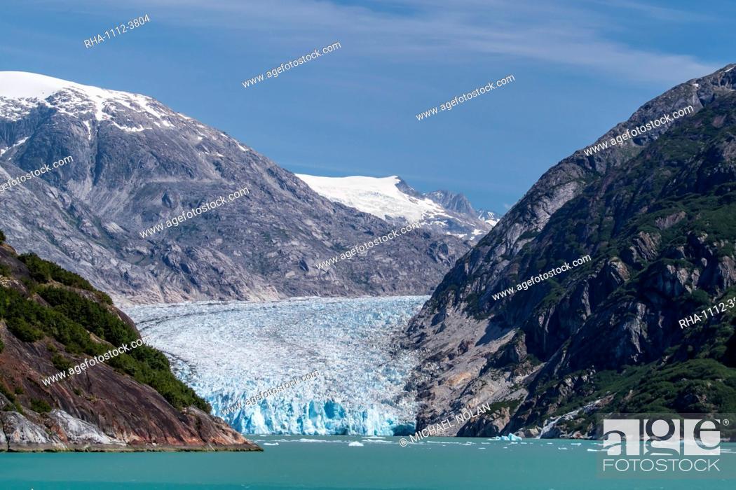 Stock Photo: Dawes Glacier in Endicott Arm in Southeast Alaska, United States of America, North America.