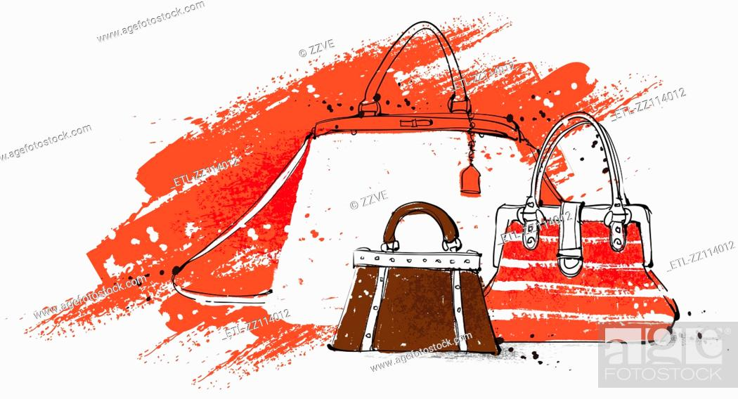 Stock Photo: Feminine Bags.