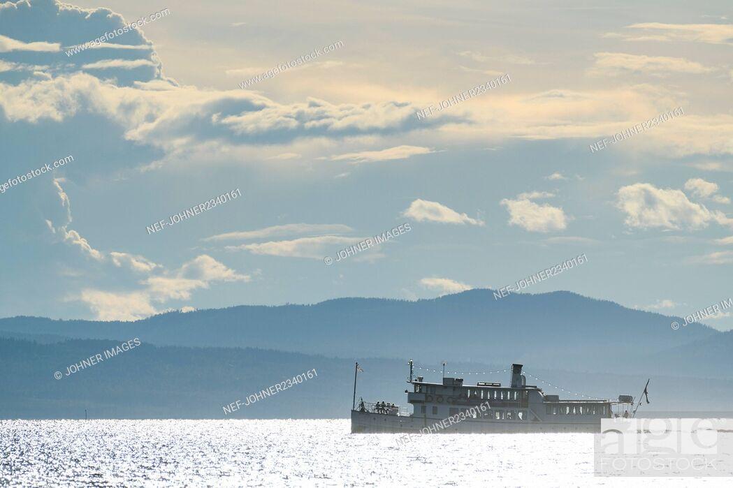 Stock Photo: Ferry on sea.