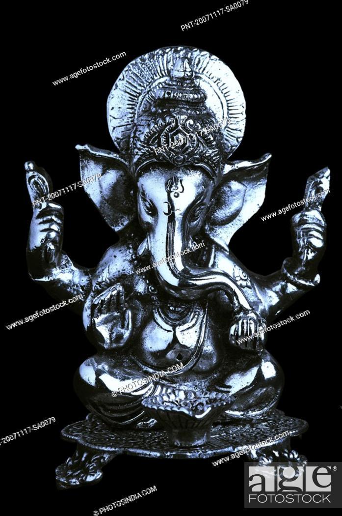 Stock Photo: Close-up of a statue of God Ganesha.