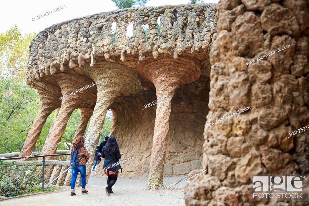 Imagen: Park Güell by Antonio Gaudí. Barcelona. Catalonia. Spain.