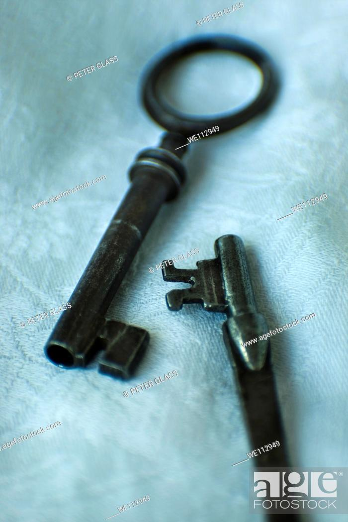Stock Photo: Close-up of old keys.