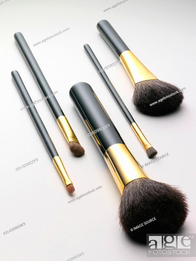 Stock Photo: Make up brushes.