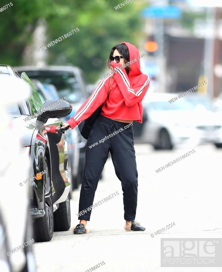 Stock Photo: Vanessa Hudgens has her hand over her face after pilates Featuring: Vanessa Hudgens Where: Los Angeles, California, United States When: 30 Jun 2017 Credit: WENN.