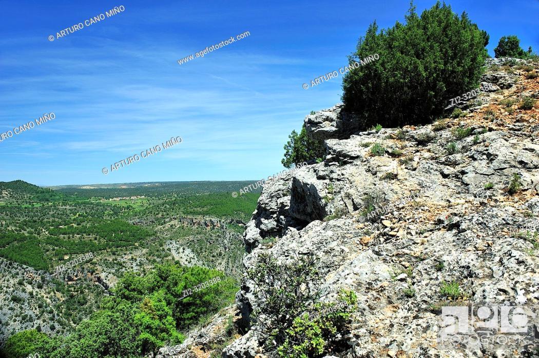 Imagen: Alto Tajo Natural Park. Huertahernando town, Guadalajara province, Spain.