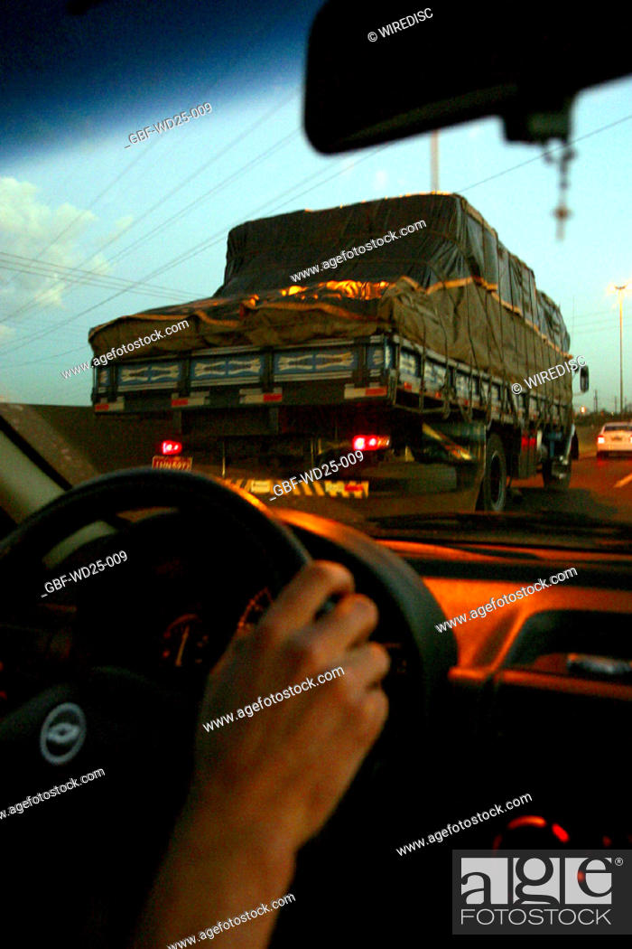 Stock Photo: Transport, driver, road.