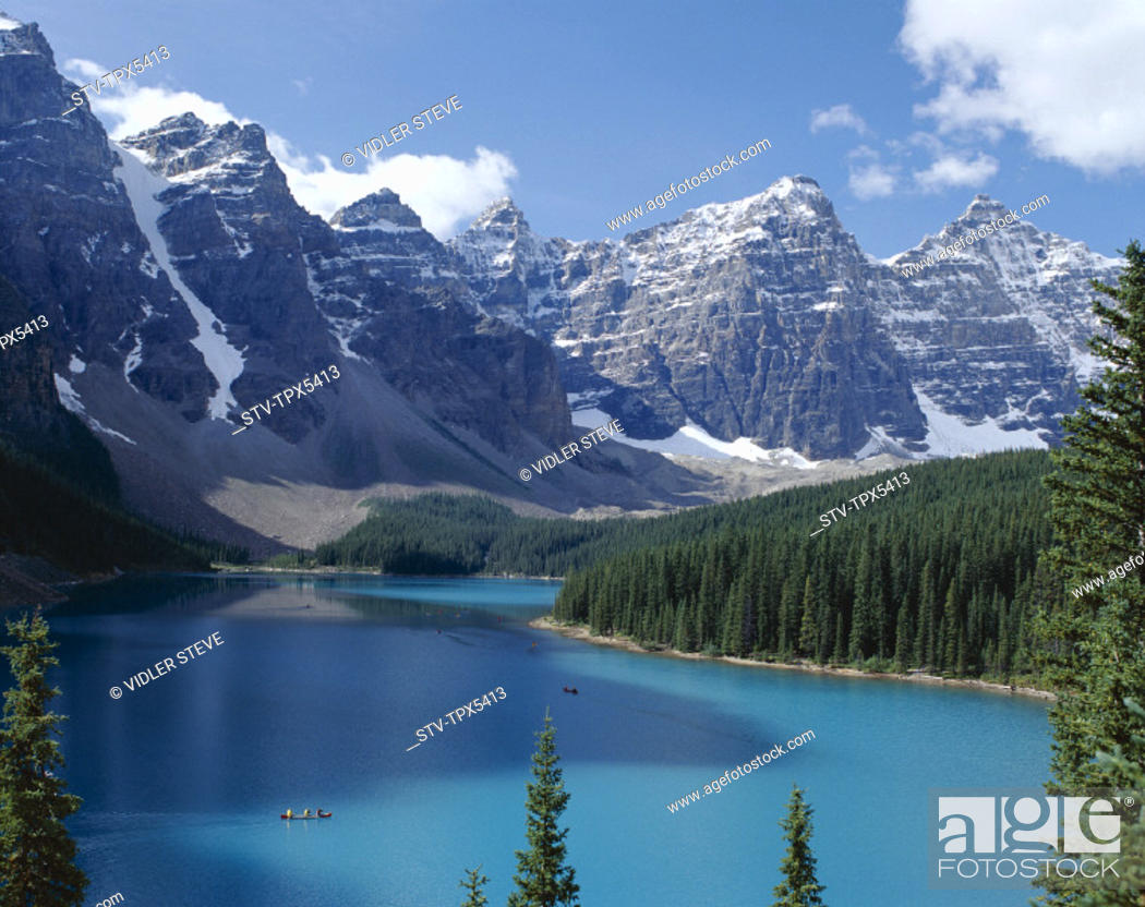 Stock Photo: Alberta, Banff, Banff national park, Canada, North America, Holiday, Landmark, Moraine lake, Rockies, Tourism, Travel, Vacation,.