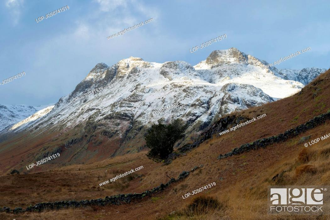 Stock Photo: A view of the Langdale Pikes from Side Pike.