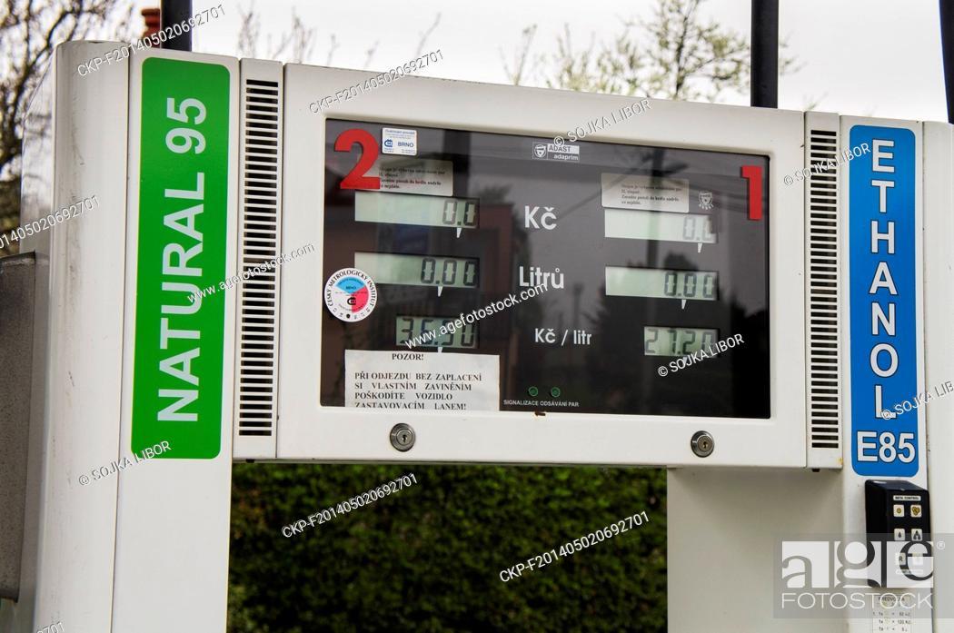 E85 Gas Stations >> Petrol Station Hustopece Brno Price List Natural 95 E85