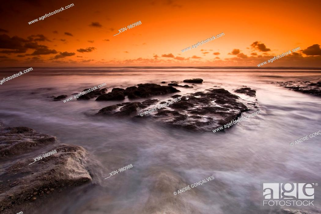 Stock Photo: Ribeira D'Ilhas Beach, Ericeira, Portugal.
