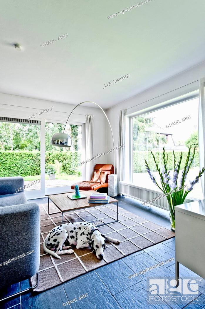 Photo de stock: Living room, Bauhaus residential house, Hamburg, Germany.