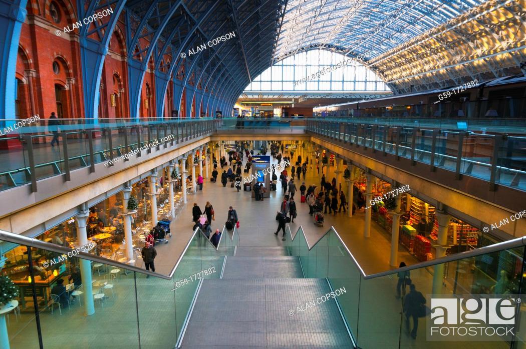 Imagen: UK, England, London, St  Pancras Station.