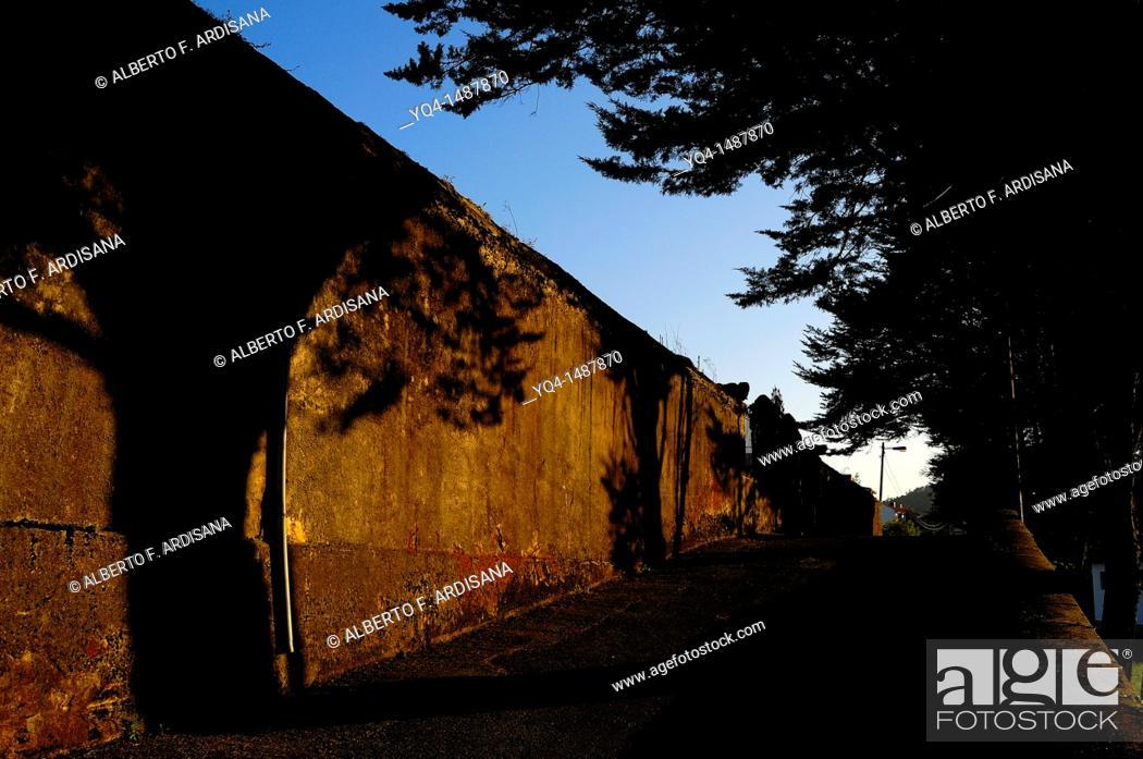Stock Photo: Wall of cemetery, Nava, Asturias, Spain.