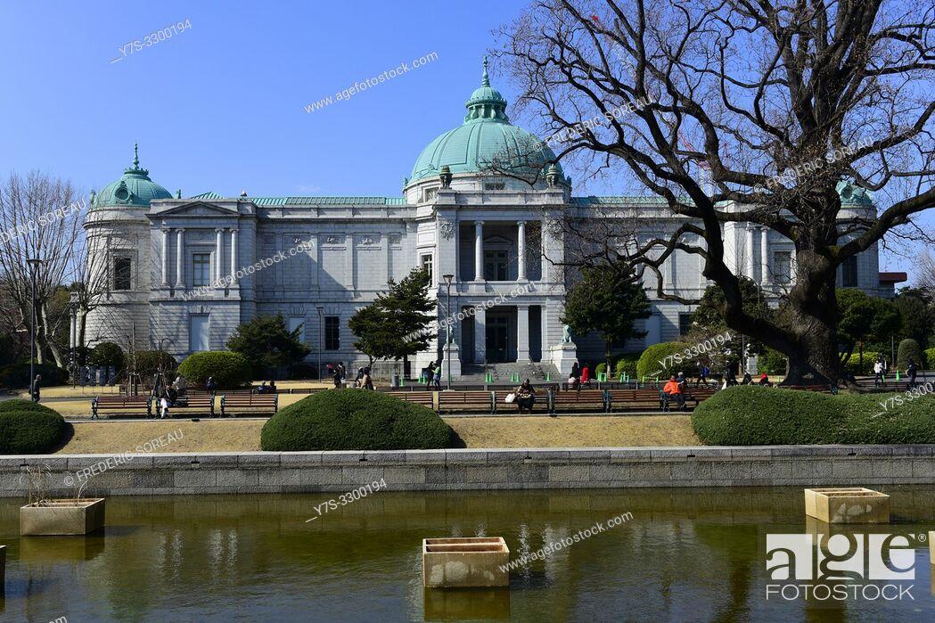 Stock Photo: Tokyo National Museum, Hyokeikan Hall, Ueno Park, Honshu, Japan, Asia.