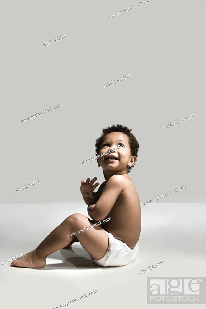 Stock Photo: Smiling toddler.