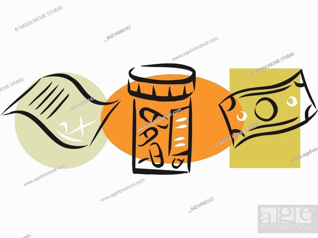 Stock Photo: A picture of a drug prescription.